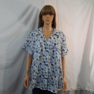 NWT Women's Karen Scott 3X 26/28 Top Shirt Blouse